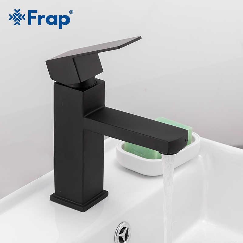 Frapก๊อกน้ำอ่างล้างหน้าห้องน้ำสีดำอ่างล้างจานก๊อกน้ำสแตนเลสห้องน้ำก๊อกน้ำเย็นอ่างล้างหน้าY10170/-1