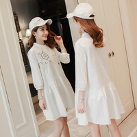 Maternity Blouse Pregnancy Clothing Spring Pregnancy Clothes Of Pregnant Women Fashion Premama Tops Shirts White