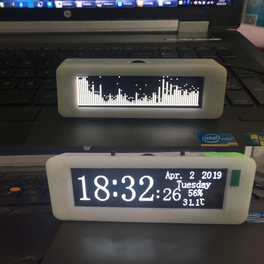 """DYKB 3 """"pulgadas OLED espectro de la música de Analizador de MP3 coche amplificador de Audio indicador de nivel ritmo medidor VU w Indicador de temperatura-in Accesorios y piezas de reemplazo from Productos electrónicos    1"""