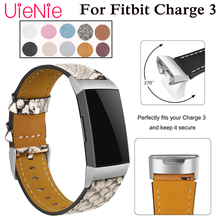 Genuine Leather strap For Fitbit Charge 3 frontier/classic luxury smart watch wristband accessories