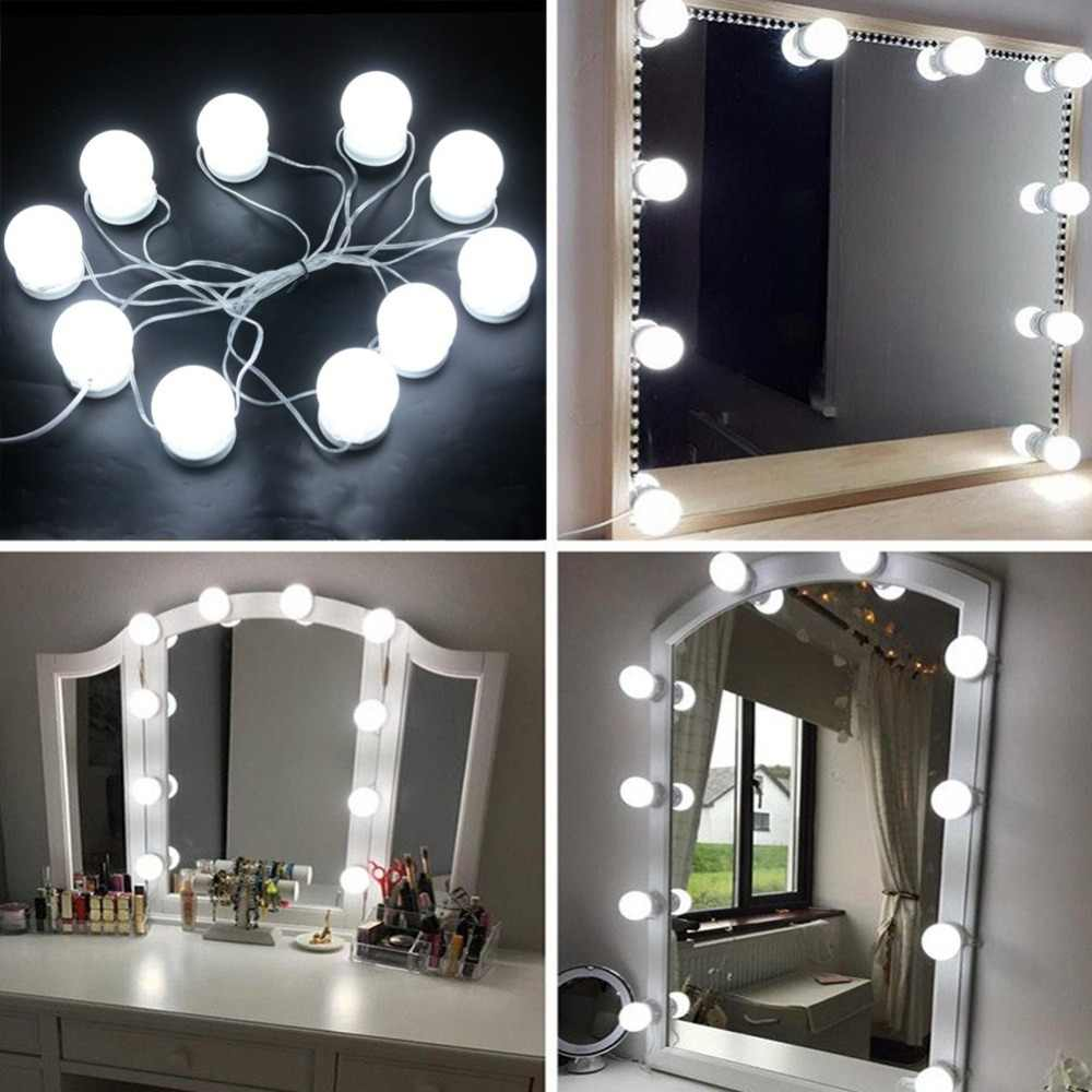 Hollywood Style LED Vanity Mirror Lights Kit Bulbs Hide The Spinning on