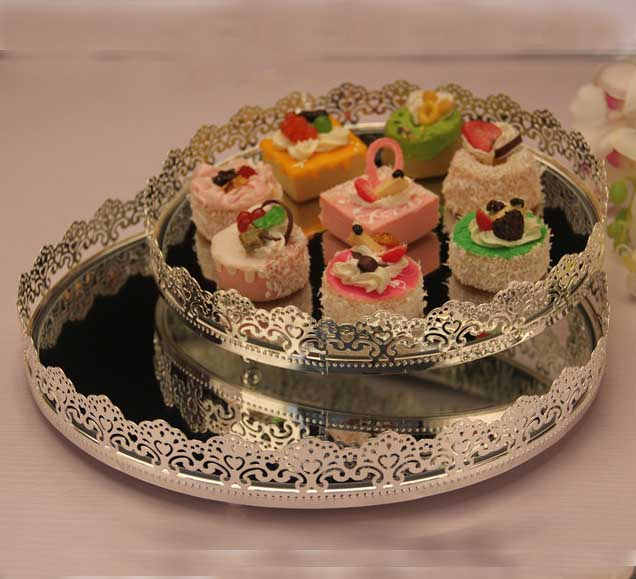 Aliexpresscom Buy Silver Cake ServingTray Hotel Wedding Coffee