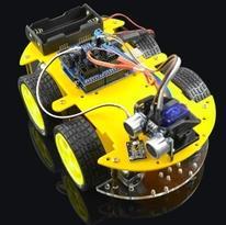 Multi-fonction Smart Voiture Kit Bluetooth Châssis costume Suivi Compatible UNO R3 DIY RC Électronique jouet robot avec 1602