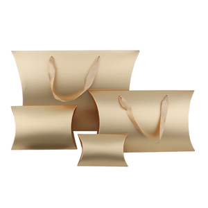 Boîte d'emballage de cheveux vierges en or | Boîte d'oreiller avec autocollant en métal, boîte d'emballage en papier, boîte d'emballage de cadeau de bijoux, logo personnalisé d'autocollant en métal