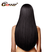 Gossip Peruvian Straight Hair Bundles 10″-28″ 100% Human Hair Bundles Double Weft Hair Extension 1 Piece Non Remy Hair Weaving