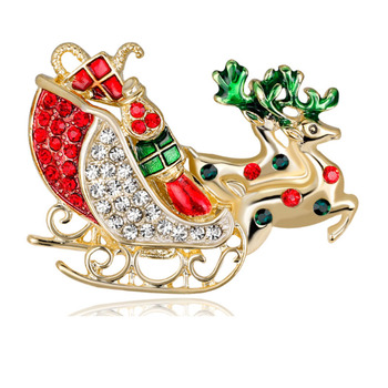 wholesale rhinestone bead charm Christmas seld Theme Party  brooch pins Decoration Gift