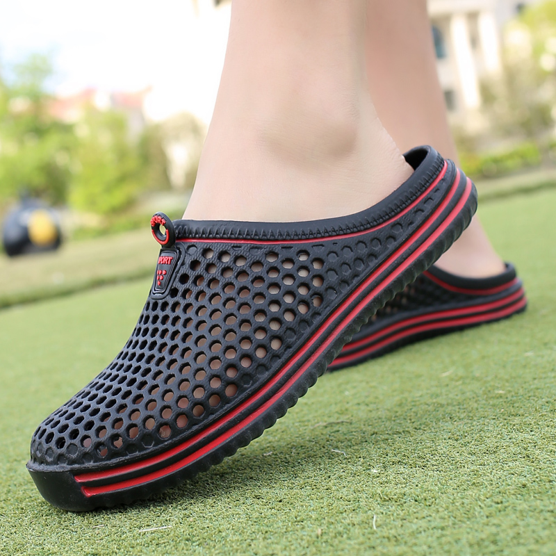 2018 Beach Sandals Men outdoor Sandals Eva Clogs Shoes men Croc Summer Sandalias Lover Black White Garden women Nest shoes playa