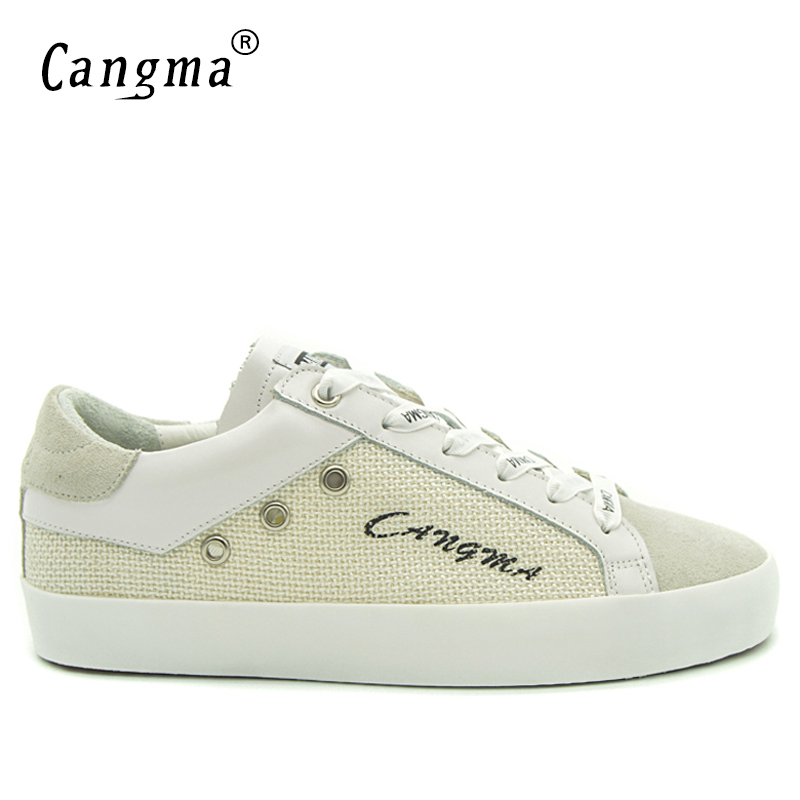 Grande Casual Femmes Vintage Cangma Italie vintage Zapato Appartements 2017 Taille Chanvre Sneakers No Femme Chaussures Vintage Respirant Automne Gris Filles Blanc 6WWr7vRO