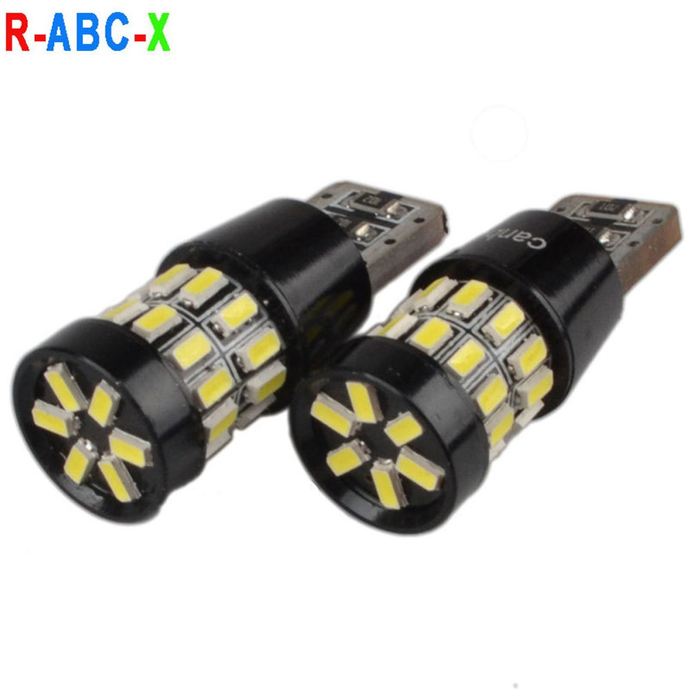 2x W5W <font><b>T10</b></font> LED Canbus Bulb <font><b>3014</b></font> <font><b>30SMD</b></font> 194 168 Car Clearance Parking Lights Auto Interior Reading Trunk Lamp White 600lm image
