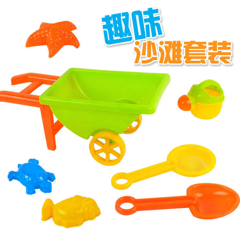 QICSYXJ Birthday Gift Childrens Bath Toy Classic Sand Playing Tools Plastic Bucket Car Shovel Water Sprinkle Random Colors