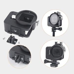 Image 4 - Aluminium Hero 5 6 7 obudowa aluminiowa obudowa ochronna obudowa metalowa rama filtr UV do akcesoriów GoPro Go Pro hero