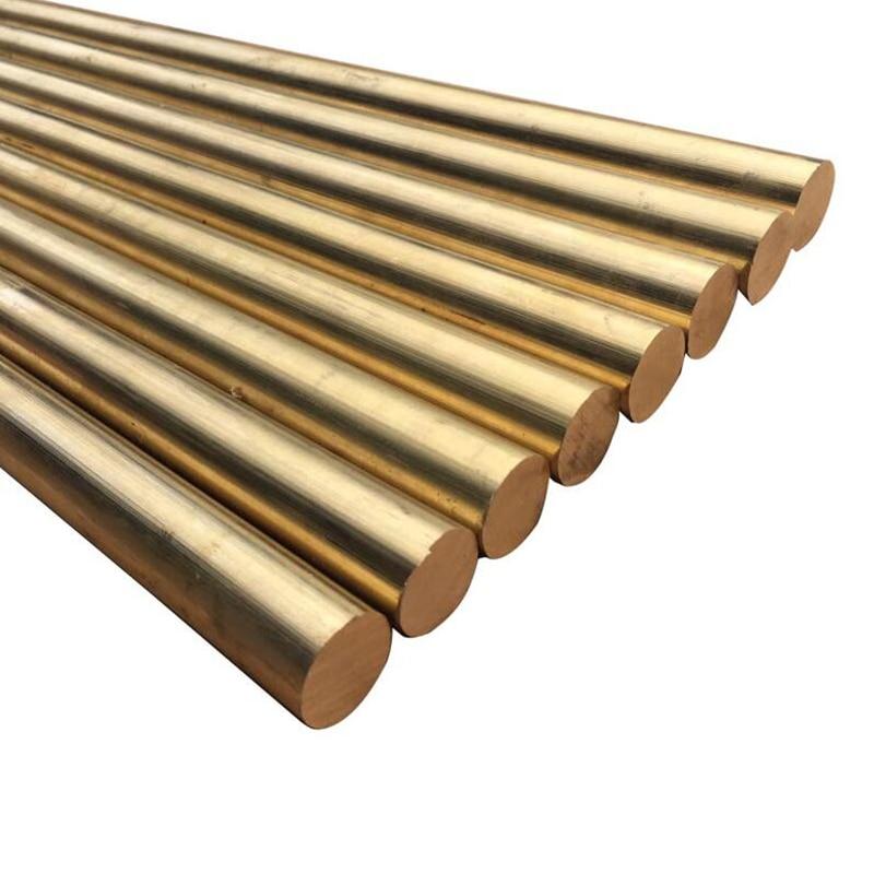 2PCS Diameter 5mm Brass Solid Round Rod Lathe Bar Stock 150mm