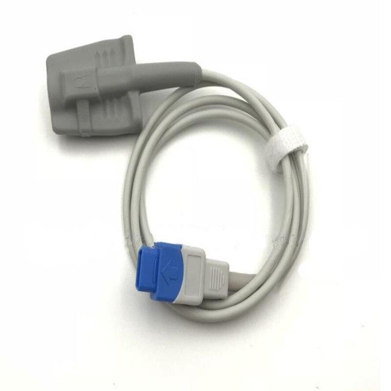Compatible for GE TRUSIGNAL/DATEX, OHMEDA Spo2 Sensor for Adult Soft finger use Spo2 Probe,Oximeter Probe TPU 1M/3ftCompatible for GE TRUSIGNAL/DATEX, OHMEDA Spo2 Sensor for Adult Soft finger use Spo2 Probe,Oximeter Probe TPU 1M/3ft