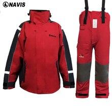Żeglarstwo Wędkowanie Kurtka i spodnie, faul Pogoda żeglarstwo garnitur. czerwony kolor kurtka zimowa