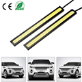 1Pcs Car styling Ultra Bright 12W LED Daytime Running lights DC 12V 14cm 100% Waterproof Auto Car DRL COB Driving Fog lamp