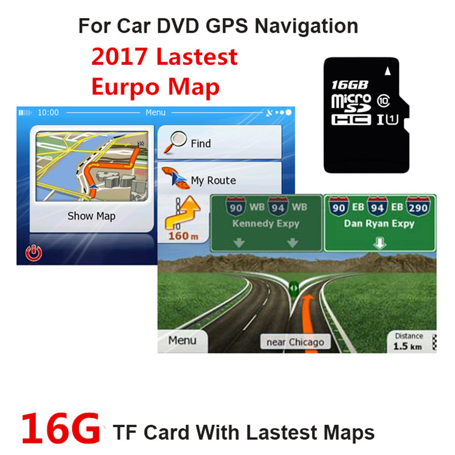 Fit for WCE System Car GPS Navigation 16GB Micro SD Card Lastest Europe Map Italy,France,UK,Spain,Turkey,Germany,Austria etc