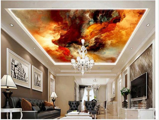 Tapety 3d Sufit Streszczenie Malowane Marmur Sufit Zdjecie 3d Tapety