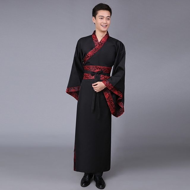 5bcf5e69af New 5 Color Ancient Chinese Hanfu Costume Men Clothing Traditional China  Tang Suit Oriental Chinese Traditional Dress Men