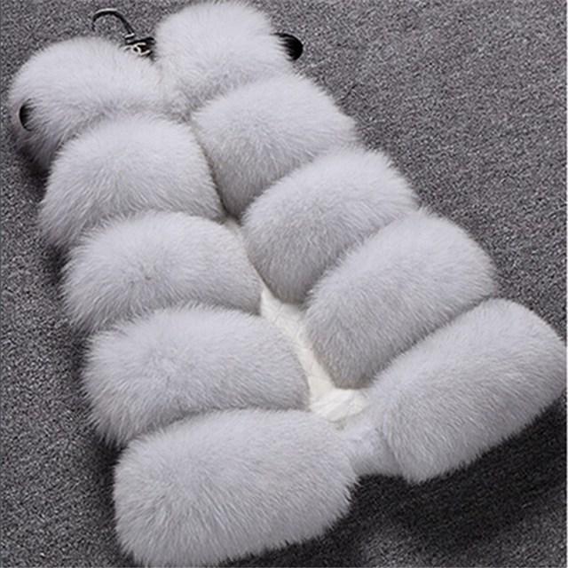 New Design 2016 Fashion Winter Women Fur Vest Faux Fox Fur Vests Woman Fake Fur Coat Jacket Female Ladies Fur Coats Size S-XXXL