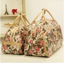Мода женщин сумка Старинные багаж большой емкости сумки женщины багаж путешествия сумки на ремне