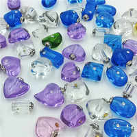 50piecs mixed designs Crystal Vials perfume bottle pendants charms handmade popular jewelry findings rice art