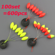 10 Packs [10Packs=100set=600pcs ] New Arrivals Ezsy Use Floater fixed Adjustable by the integrated rubber stopper