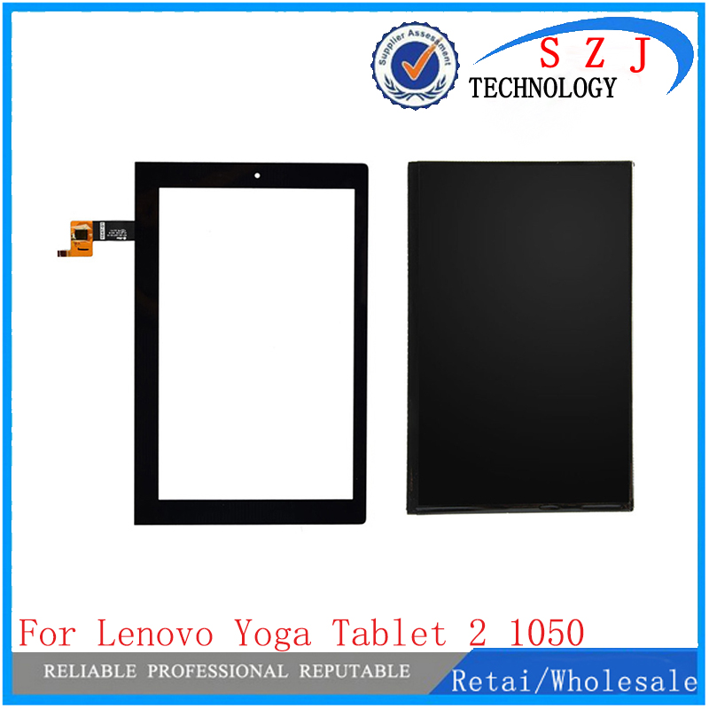 New 10.1'' inch For Lenovo Yoga 2 1050 1050F 1050L Touch Screen Panel Digitizer Glass LCD Display Assembly Parts V4 Freeshipping 10 1 inch for lenovo yoga tablet 2 1050 1050f lcd display screen with touch screen sensor digitizer full assembly