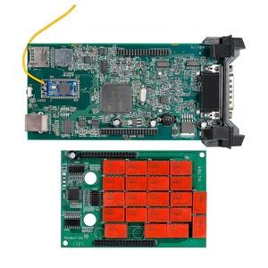 Image 2 - 10PCS CDP TCS Double Green V3.0 NEC board Bluetooth 2015.R3 software OBD II scanner cars trucks OBD2 diagnostic tool