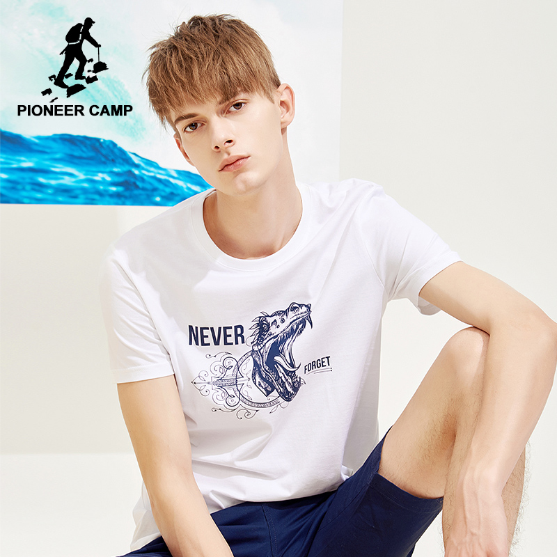 Pioneer camp new arrival short sleeve t shirt mens brand clothing fashion summer tshits for men 100% cotton tees male ADT803010