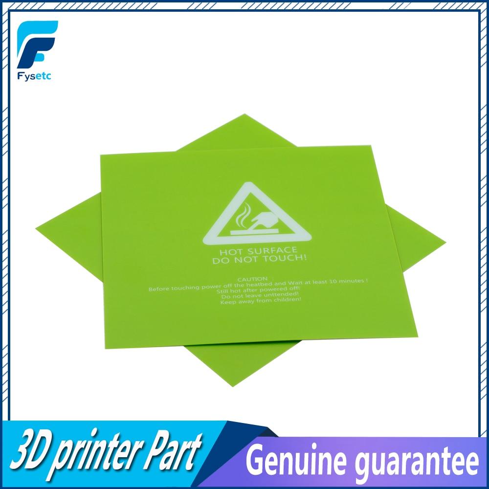 1pc 300x300mm 3D Printer Heat Hot Bed Sticker Green Printed Hot Bed Surface Sticker Part For TEVO Tornado Lulzbot Taz6 Printer