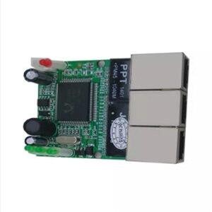 Image 3 - OEM interruptor mini interruptor 3 puertos ethernet de 10/100 mbps rj45 red hub switch módulo pcb Junta sistema la integración