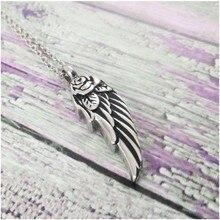 Angel Wing Urn Cremation Ashes Necklace Jewelry Angel Baby Necklace Baby Loss Jewelry Baby Memorial Charm necklace choker kolye цена