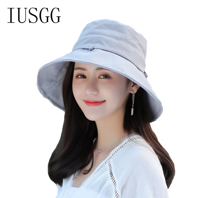 Spring Summer Women Hat Flat Linen Bucket Hat For Women Travel Sun Hat  Female Solid Color Panama High Quality Fisherman Cap eb7ec54a89