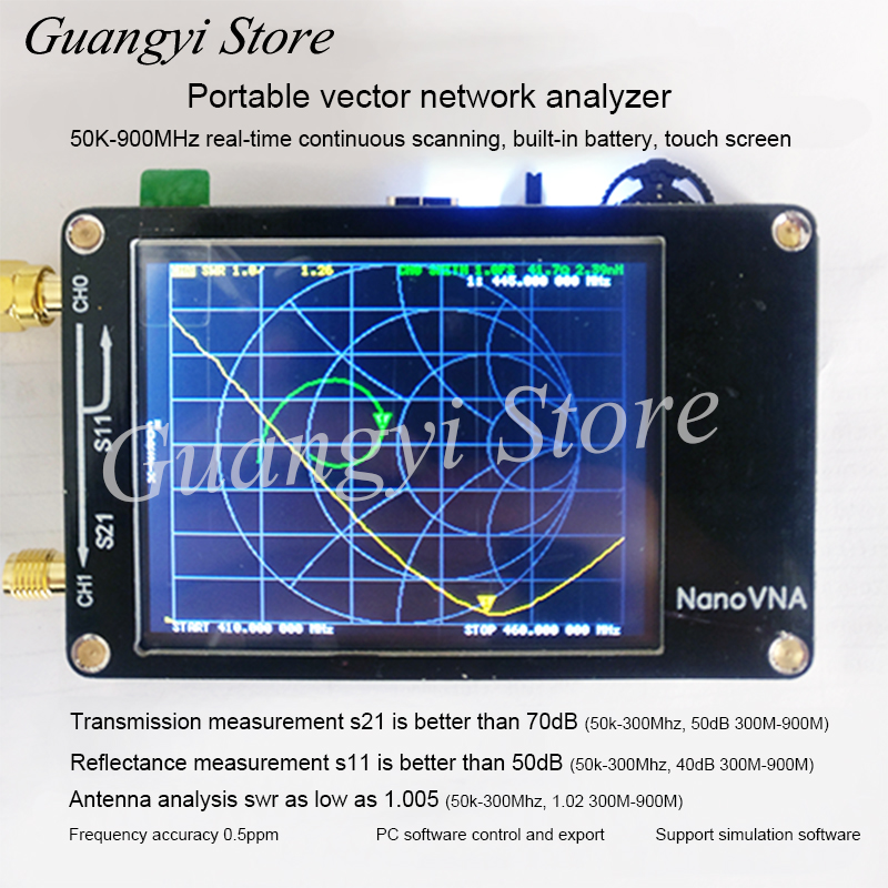NanoVNA Vector Network Analyzer Antenna Analyzer Shortwave MF HF VHF UHF Genius