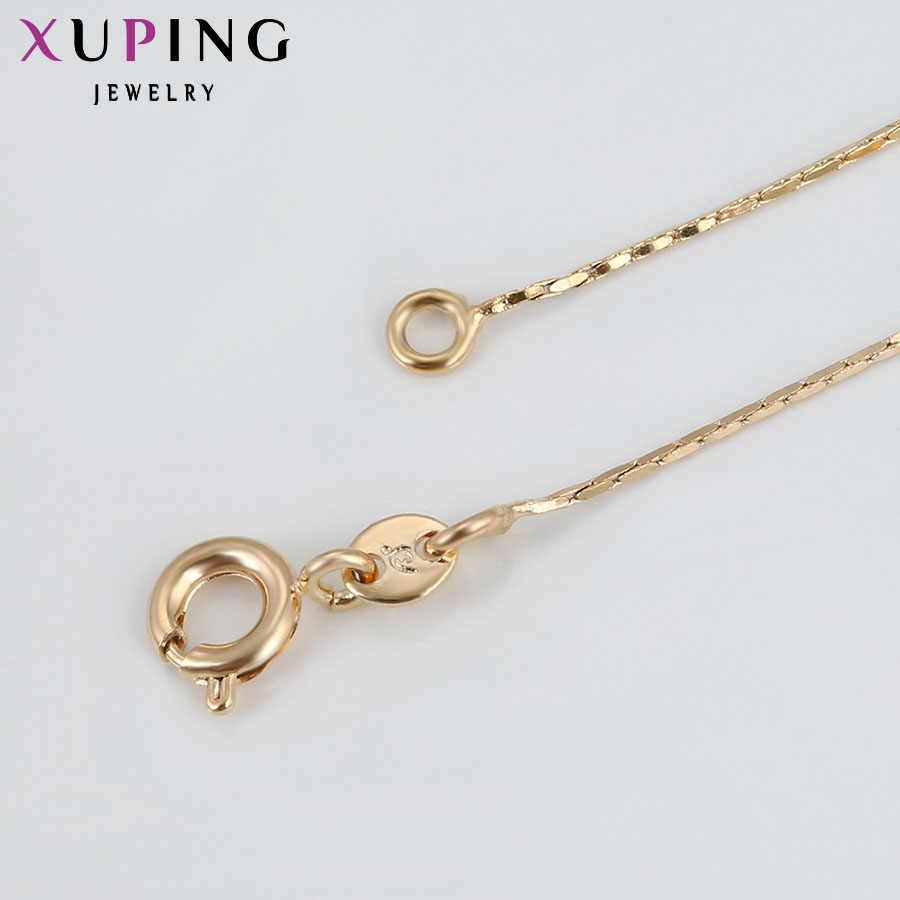 11.11 Xuping modny naszyjnik nowy projekt duży długi naszyjnik złoty kolor platerowany naszyjnik damski łańcuszek biżuteria Top sprzedaż prezent 42555