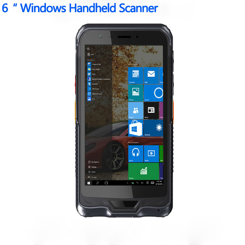 "Original 6"" Handheld Terminal PDA Windows 10 Rugged Tablet PC Waterproof Mobile Phone GPS 1D 2D Laser Barcode Scanner NFC"
