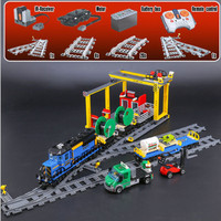 PRESELL Lepin 02008 959pcs City Series The Cargo Train Set Building Blocks Bricks 60052 RC Train