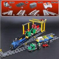 IN STOCK Lepin 02008 959pcs City Series The Cargo Train Set Building Blocks Bricks 60052 RC