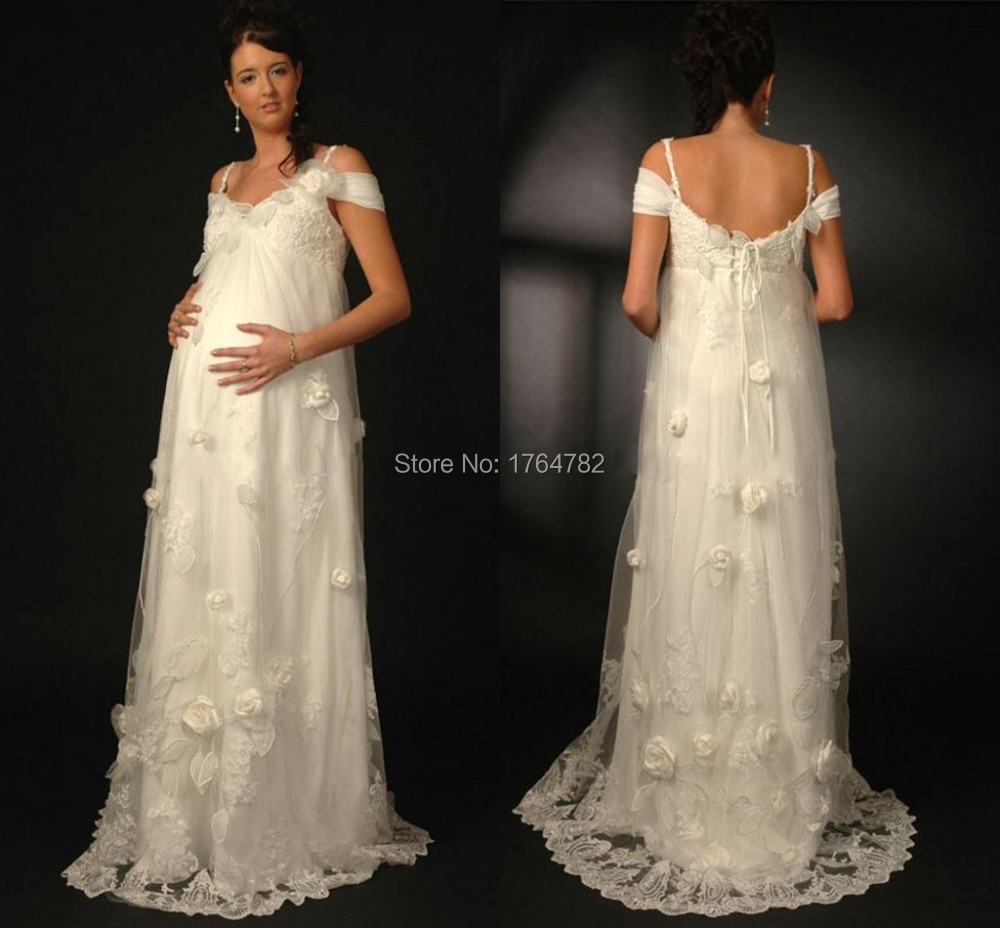 Online shop graceful white flower appliques plus size pregnant online shop graceful white flower appliques plus size pregnant wedding dresses 2015 high quality lace beach wedding bridal dress handmade aliexpress ombrellifo Gallery