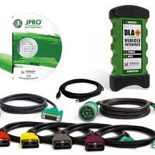 Высокое качество JPRO DLA+ 2,0 новейший V1.0 программное обеспечение интерфейс автомобиля дизель сверхмощный грузовик сканер автопарк диагностический инструмент