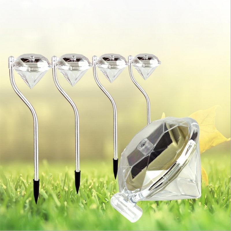 Set Of 4 Outdoor LED Path Lamp Solar Power Yard Backyard Patio Walkway  Street Square Road