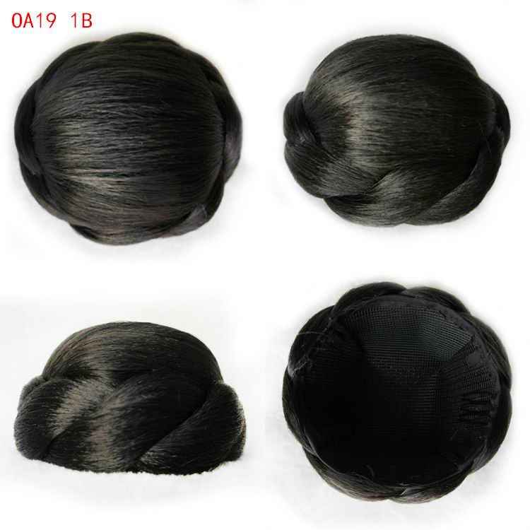 9cm Fashion Women Chignons Hairpiece Heat Resistant Lady Chignons Buns Hairpieces Knot Bob OA19