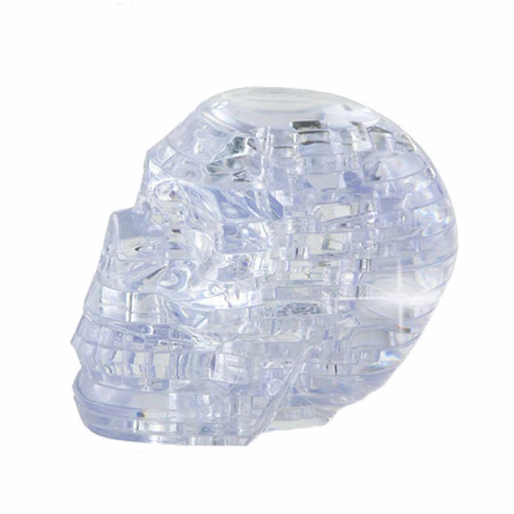 Хрустальный череп прозрачной вставкой и самодельный гаджет блоки забавная обучающая игрушка в подарок, подарок на день рождения, детский игровой набор игрушки Developmental18mar21