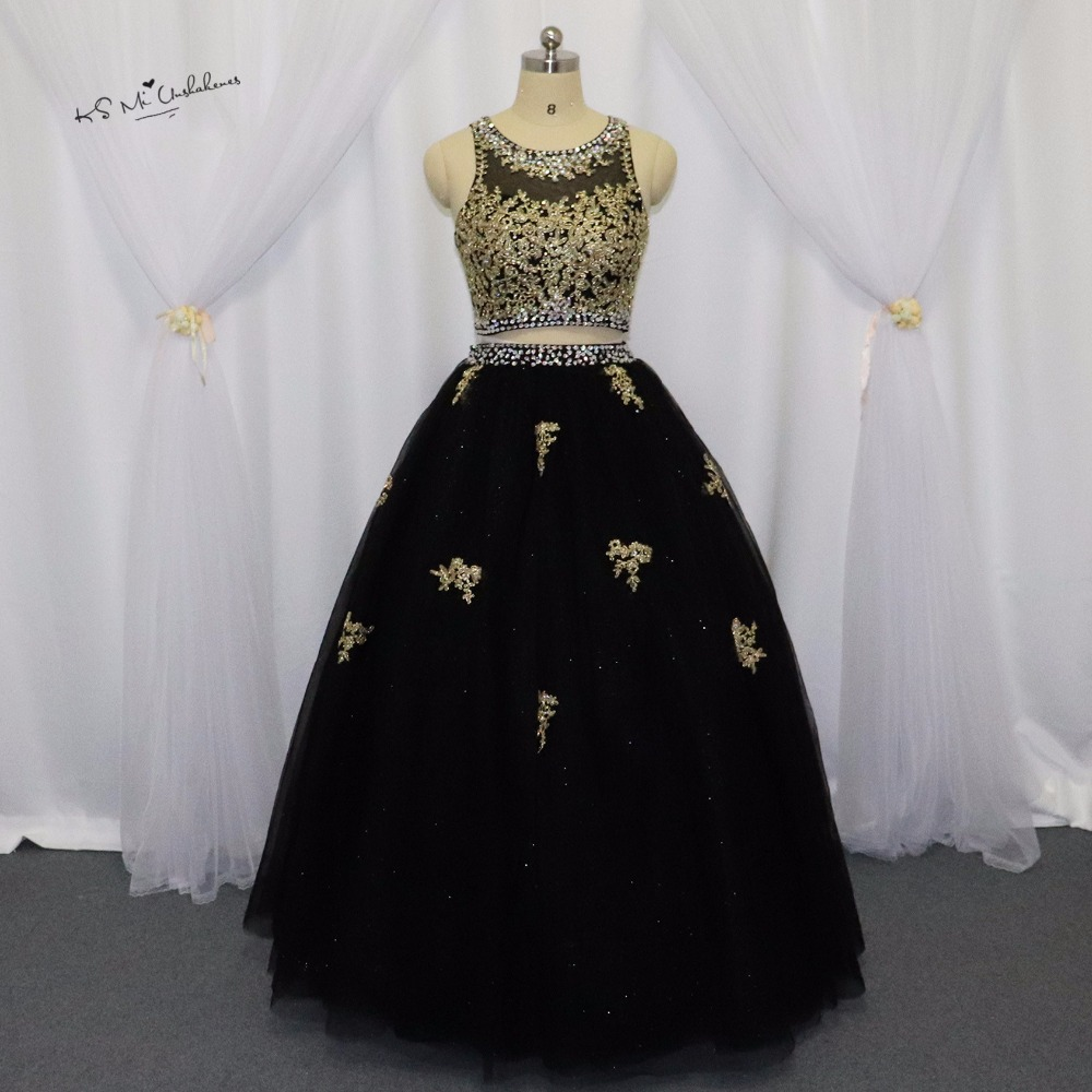 Черное, Золотое кружевное платье принцессы, недорогие платья из 2 предметов, пышное платье 2017, платья для дебютантов, Vestidos Para Festa de 15 anos, милые