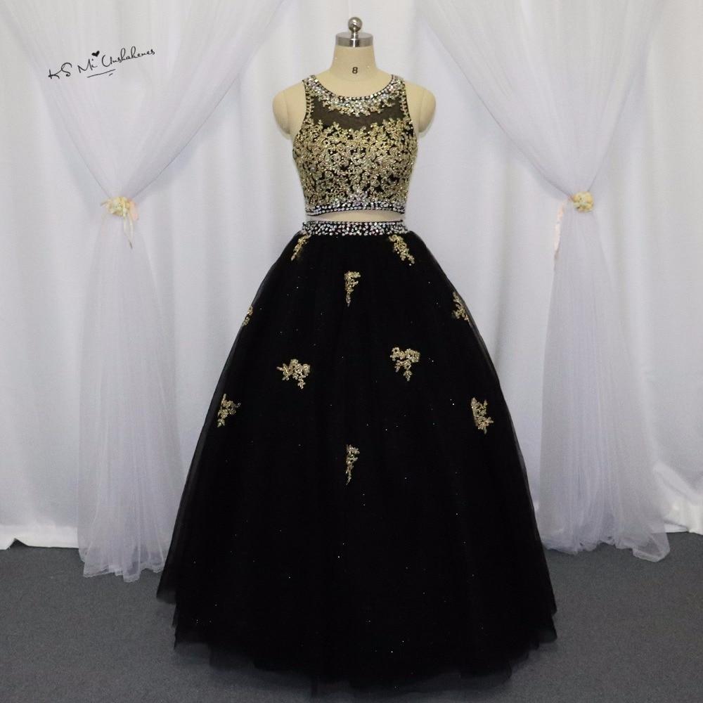 Aliexpress.com : Buy Black Gold Lace Princess Cheap 2 Piece ...