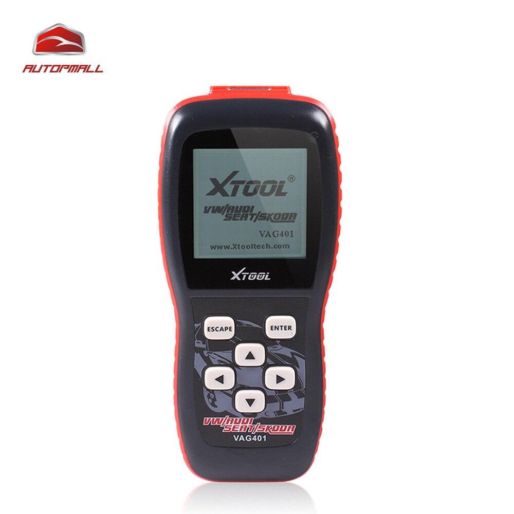 Цена за Авто Диагностический Инструмент Xtool VAG401 OBD2 Диагностический Сканер Для VW/Audi/Skoda/Seat VAG 401 OBDII код Читателя ABS SRS Двигателя