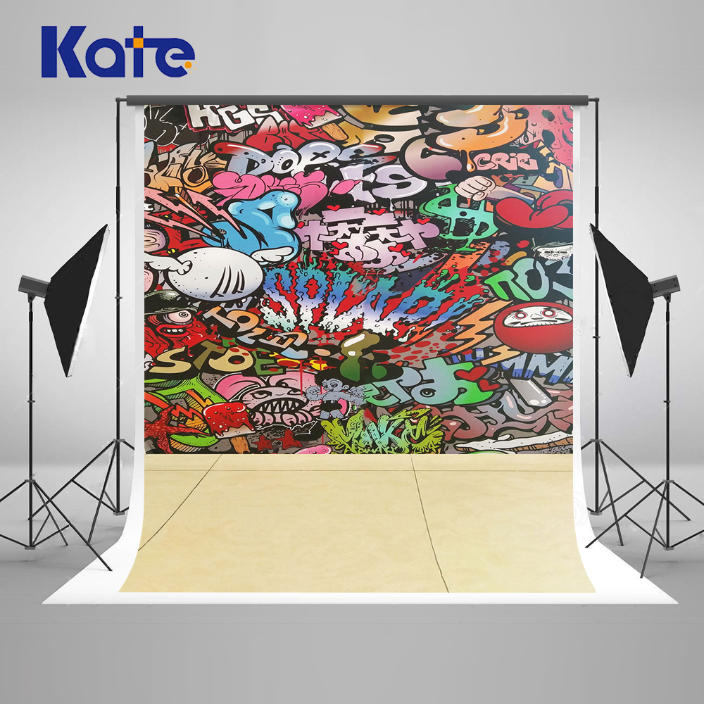 KATE Photography Backdrops Graffiti Background Newborn Photography Background Concrete Floors Children Photo Background
