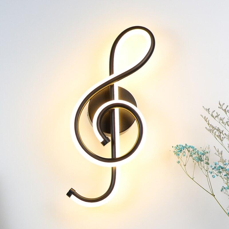 22 w conduziu a lampada de parede quarto ao lado luz da parede musica forma clef