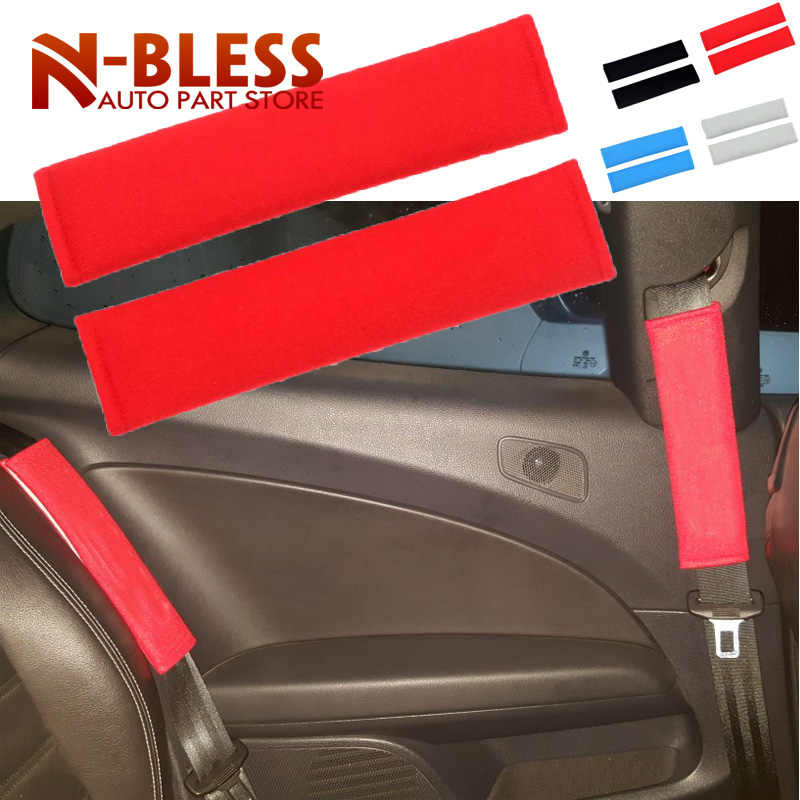 2 шт./пара Универсальный автомобильный ремень безопасности плечевой ремень колодки авто детский хлопковый ремень безопасности для автомобилей для плеча, защита