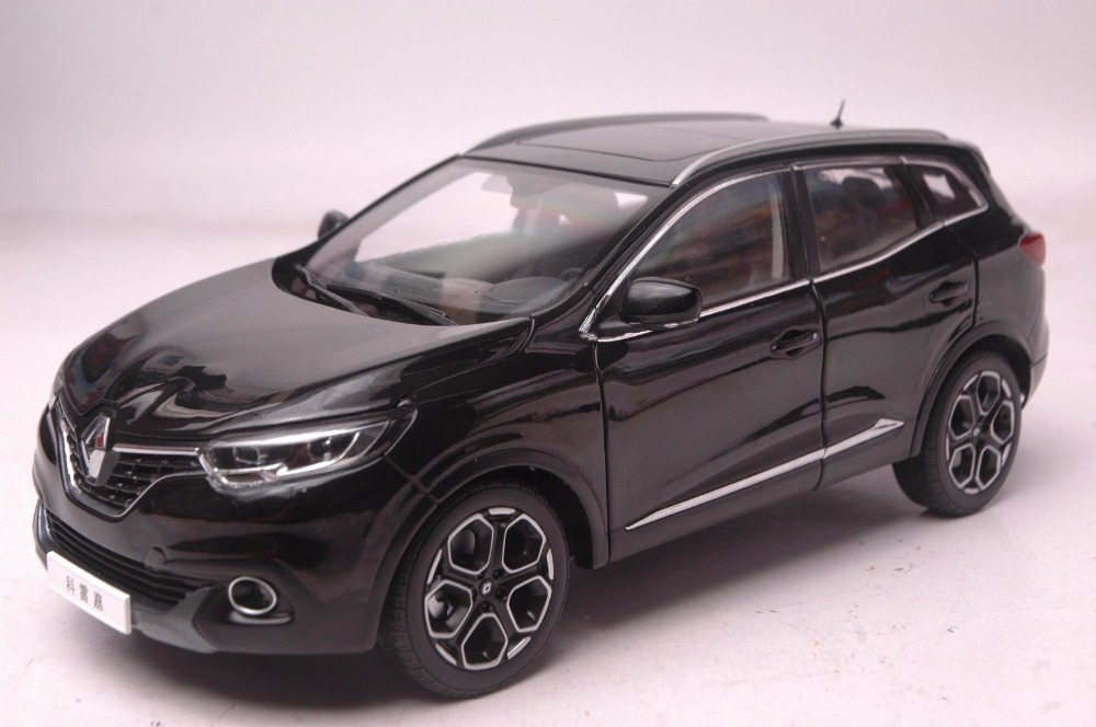 1:18 modelo fundido a presión para Renault Kadjar 2017 SUV negro aleación juguete colección de coches en miniatura regalo A93 funda de silicona para la llave del coche para Starline A39 A36 A63 A93 alarma de coche de dos vías LCD mando a distancia Fob cubierta llavero Protector piel